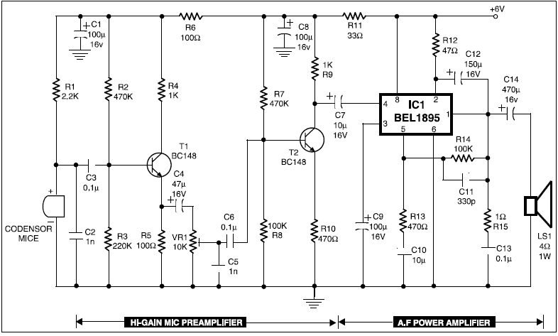 Stupendous Condenser Mic Audio Amplifier Engineering Projects Wiring 101 Capemaxxcnl